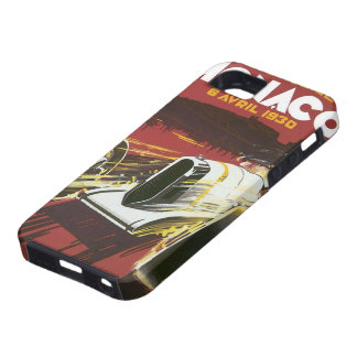 Vintage Travel Poster, Monaco Grand Prix Auto Race iPhone 5 Case