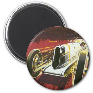 Vintage Travel Poster, Monaco Grand Prix Auto Race Fridge Magnet