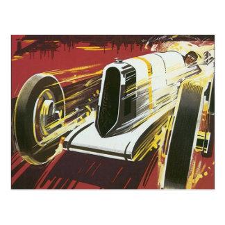 Vintage Travel Poster, Monaco Grand Prix Auto Race Postcard