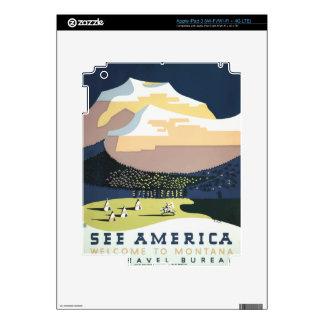 Vintage Travel Poster Montana America USA iPad 3 Decal