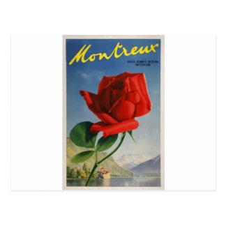 Vintage-Travel-Poster-Montreux-Switzerland Postcard