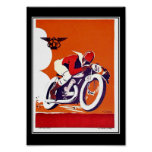 Vintage travel Poster Motorcycle Race