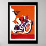 Vintage travel Poster Motorcycle Race Print