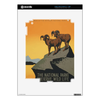 Vintage Travel Poster National Parks America USA Decals For iPad 2