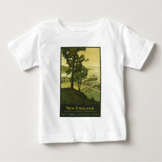 Vintage-Travel-Poster-New-England-USA-2 Baby T-Shirt