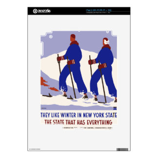 Vintage Travel Poster New York America USA Decal For The iPad 2