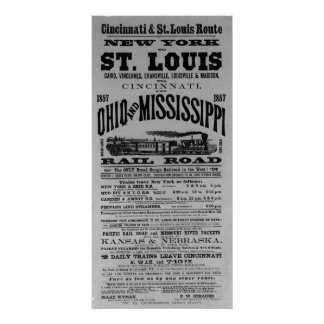 VINTAGE TRAVEL POSTER - NEW YORK TO ST LOUIS