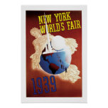 Vintage Travel Poster New York World's Fair 1939