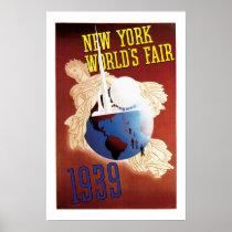 Vintage Travel Poster New York World's Fair 1939