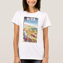 Vintage Travel Poster, Nice, France French Riviera T-Shirt