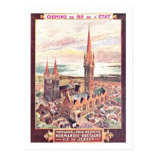 Vintage Travel Poster,Normandy Postcard