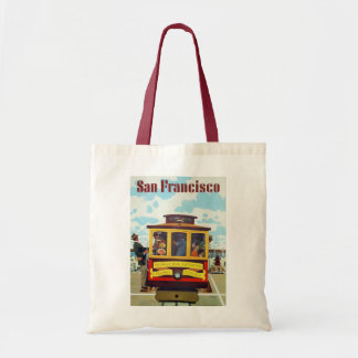 Vintage Travel Poster of San Francisco Cable Car Tote Bag