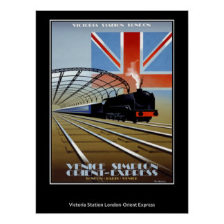 Vintage Travel Poster Orient Express
