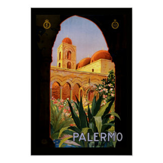 Vintage Travel Poster Palermo