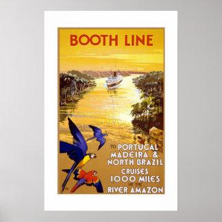 Vintage Travel Poster Portugal Brazil