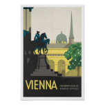 Vintage Travel Poster Print to Vienna