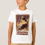Vintage-Travel-Poster-Pueblos-Of-The-Southwest T-Shirt