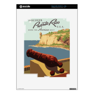 Vintage Travel Poster Puerto Rico Decal For The iPad 2