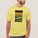 Vintage Travel Poster: Rotterdam - New York T-Shirt