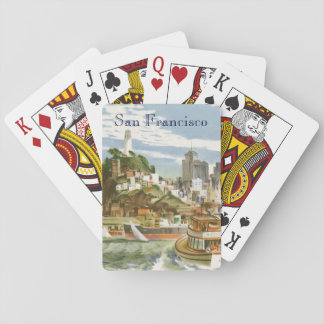 Vintage Travel Poster San Francisco Bay Ferry Boat Playing Cards