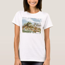 Vintage Travel Poster San Francisco Bay Ferry Boat T-Shirt