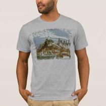 Vintage Travel Poster San Francisco Bay Ferry Boat T-Shirt