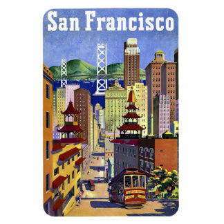 Vintage Travel Poster San Francisco Magnet