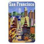 Vintage Travel Poster San Francisco Vinyl Magnet