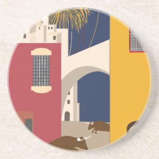 Vintage-Travel-Poster-Spain Sandstone Coaster