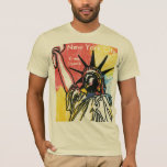 Vintage travel poster statue of liberty NYC Shirt