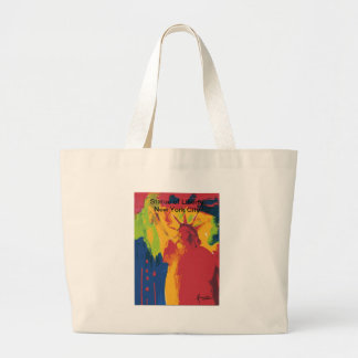 Vintage travel poster Statue of Liierty NYC Canvas Bag