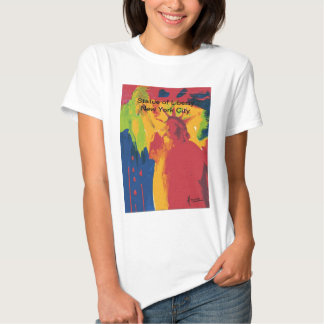 Vintage travel poster Statue of Liierty NYC T-shirt