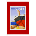 Vintage Travel Poster Summer In Italy Posters
