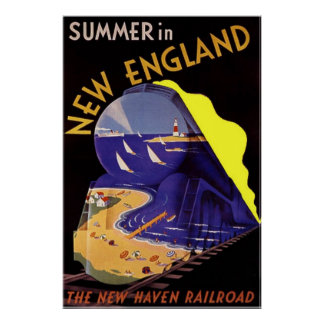 Vintage Travel Poster / Summer in New England