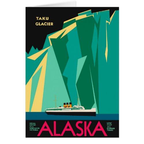 Vintage Travel Poster, Taku Glacier, Alaska