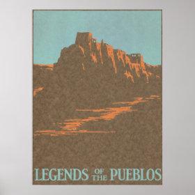 Vintage Travel Poster, Taos, New Mexico