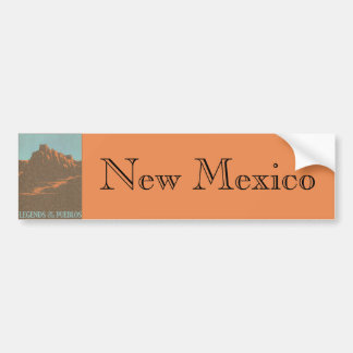 Vintage Travel Poster, Taos, New Mexico Bumper Sticker