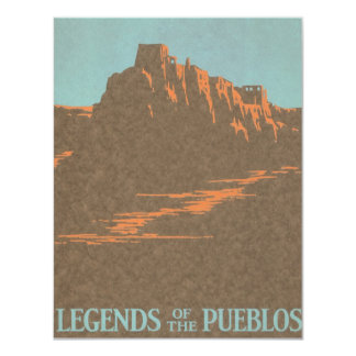 Vintage Travel Poster, Taos, New Mexico Card