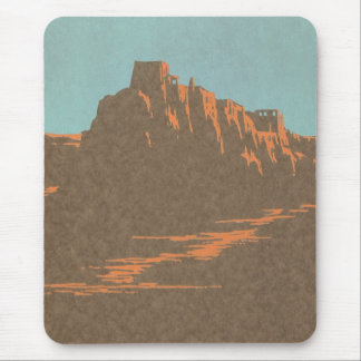 Vintage Travel Poster, Taos, New Mexico Mouse Pad