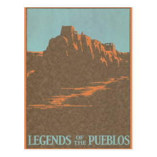 Vintage Travel Poster, Taos, New Mexico Postcard