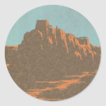 Vintage Travel Poster, Taos, New Mexico Round Stickers