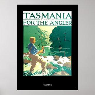 Vintage Travel Poster Tasmania Australia