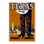 Vintage Travel Poster Texas USA