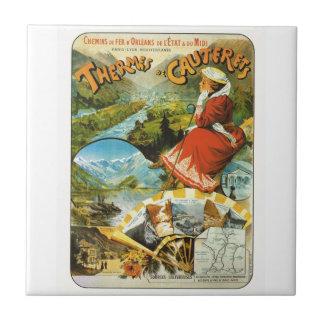 Vintage Travel poster, Thermes de Cauterets Ceramic Tile