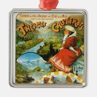 Vintage Travel poster, Thermes de Cauterets Metal Ornament