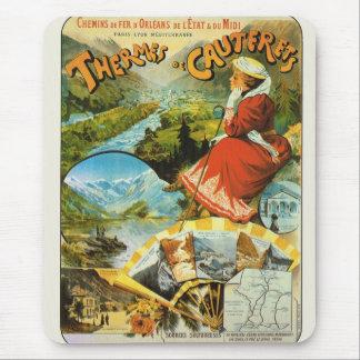 Vintage Travel poster, Thermes de Cauterets Mouse Pad