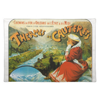Vintage Travel poster, Thermes de Cauterets Placemat