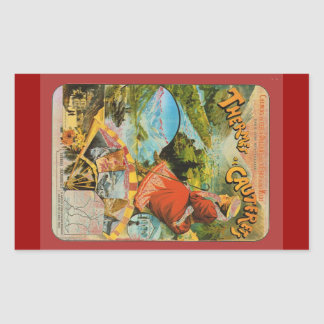 Vintage Travel poster, Thermes de Cauterets Rectangular Sticker