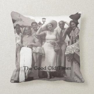 Vintage travel poster throw pillow