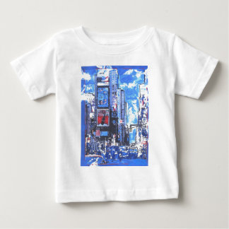 Vintage travel poster Times Square N Y City Baby T-Shirt